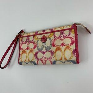 Coach Pink Wristlet Wallet